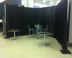black backdrop rental