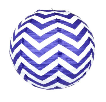 16 inch paper chinese lantern twilight chevron