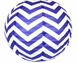 20 inch paper chinese lantern twilight chevron