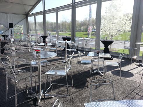 clear acrylic bar height highboy chair stool rental