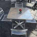 clear acrylic dining chair rental