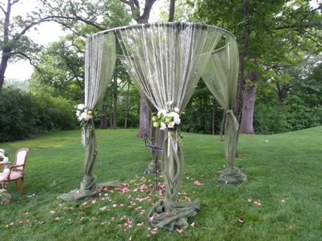 round chuppah huppah wedding canopy