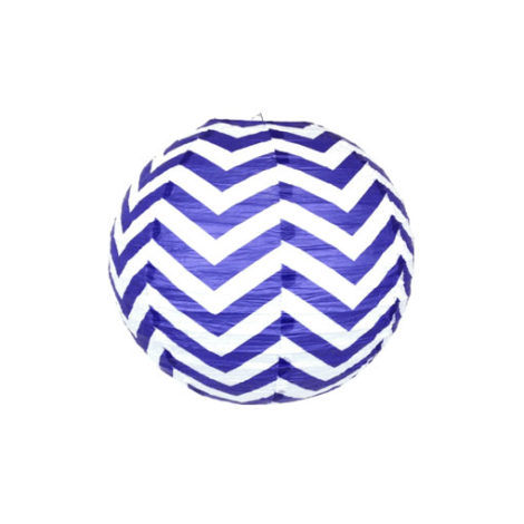 6 inch paper chinese lantern twilight chevron