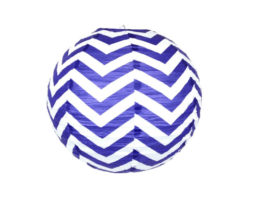 8 inch paper chinese lantern twilight chevron