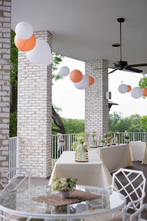 Hung balcony chinese paper lanterns chicago