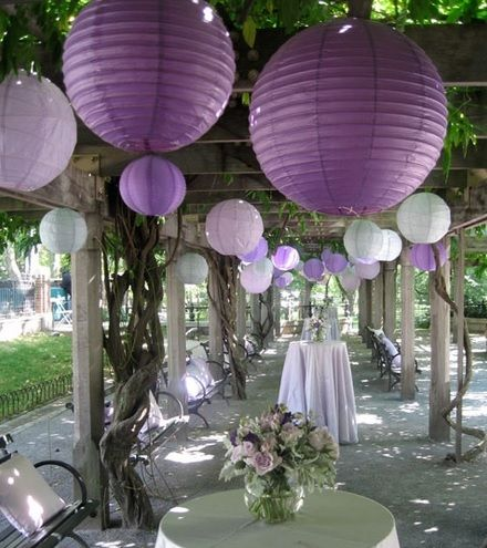 Hung ceiliing drape chinese paper lanterns chicago wisconsin