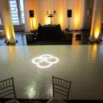 white initials vinyl dance floor
