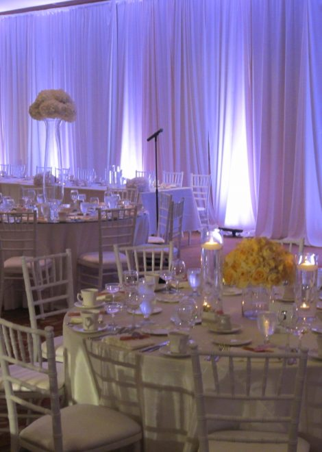 wall room drape rental
