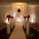 ivory wedding backdrop chuppah rental