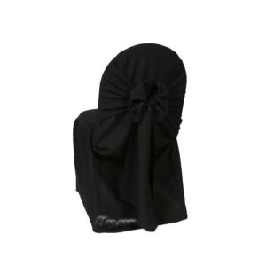 black poly polyester banquet chair cover