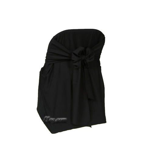 black satin lamour folding chair cover
