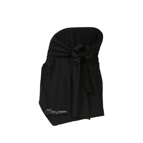 black satin lamour folding chair cover