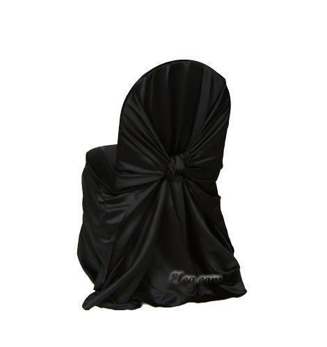 black satin wrap chair cover