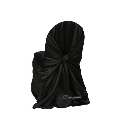 Marvelous Black Satin Lamour Wrap Chair Cover Machost Co Dining Chair Design Ideas Machostcouk