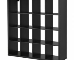 black shelving bookcase rental