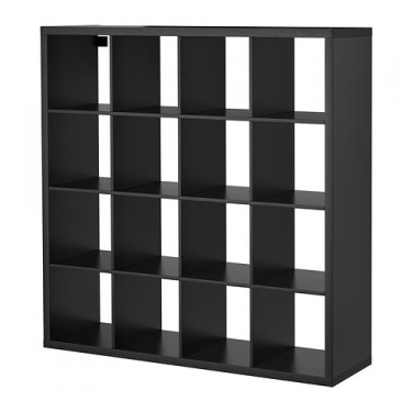 black shelving bookcase rental