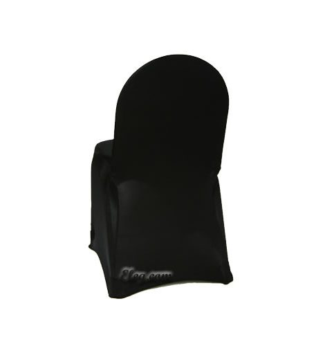 black stretch spandex banquet chair cover