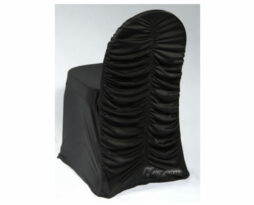 black spandex corset chair cover
