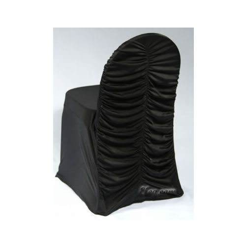 black spandex corset chair cover