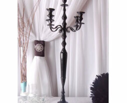 black tall candelabra rental chicago