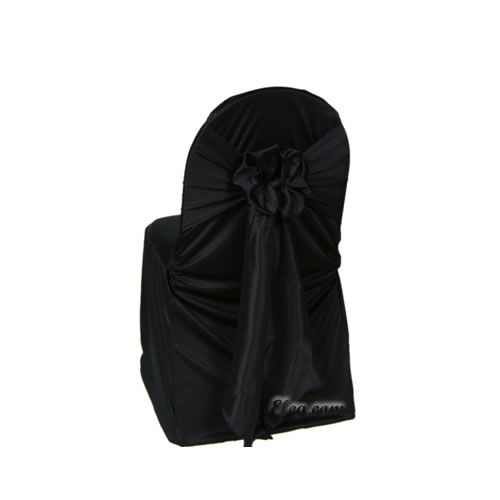 black wrinkle free banquet chair cover