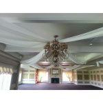 full room ceiling drape white special wedding event chicago 4
