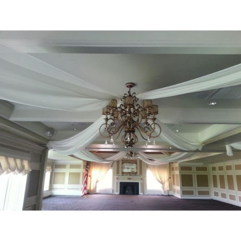 full room ceiling drape white special wedding event chicago 4