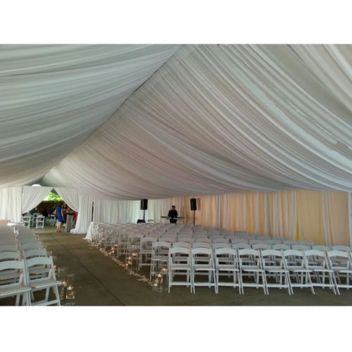 full tent ceiling drape white special wedding event chicago 5