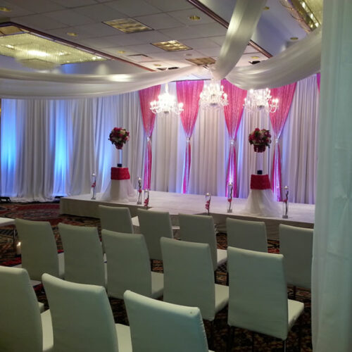 ceiling drape white special wedding event chicago