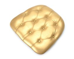 Gold royal tufted chiavari chair seat pad cushion rental