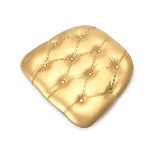 Gold royal tufted chiavari chair seat pad cushion rental