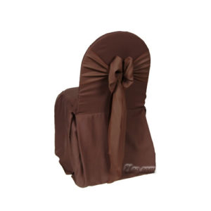 chocolate poly polyester banquet chair cover