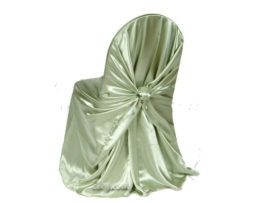 clover satin wrap chair cover