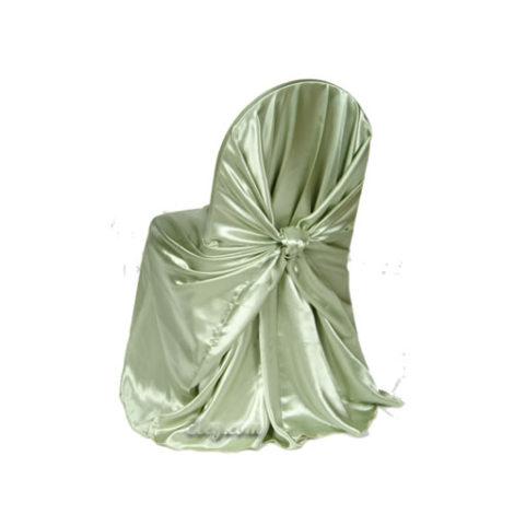 clover satin wrap chair cover
