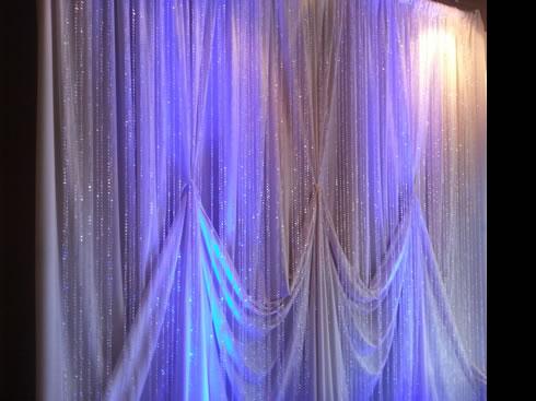 crystal designed backdrop rental