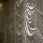 designed three pin wedding backdrop white
