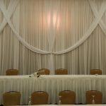 designed wedding backdrop white rental