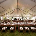 farm french country tent grouping rental table chicago suburbs
