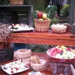 rent rustic harvest wood kings table benches display chicago milwaukee