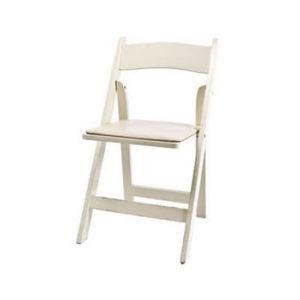 ivory folding garden chair resin wood rental chicago suburbs