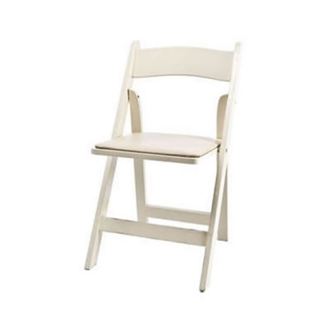 ivory folding garden chair resin wood rental chicago suburbs
