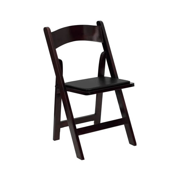 folding garden chair mahogany wood rental chicago suburbs
