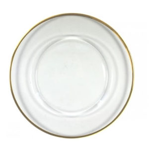 gold rim rimmed edge charger plate service plate