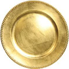 gold lacquer charger plate service plate rental chicago