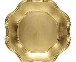 gold lacquer barouque service charger plate