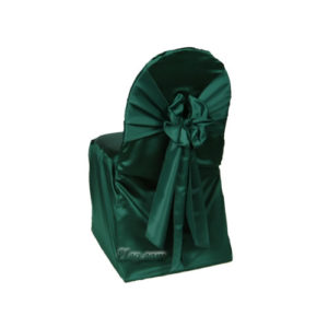 hunter satin lamour small chair cover rental