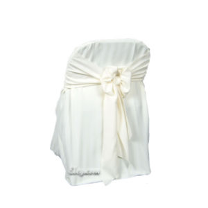 ivory imperial stripe folding chair cover