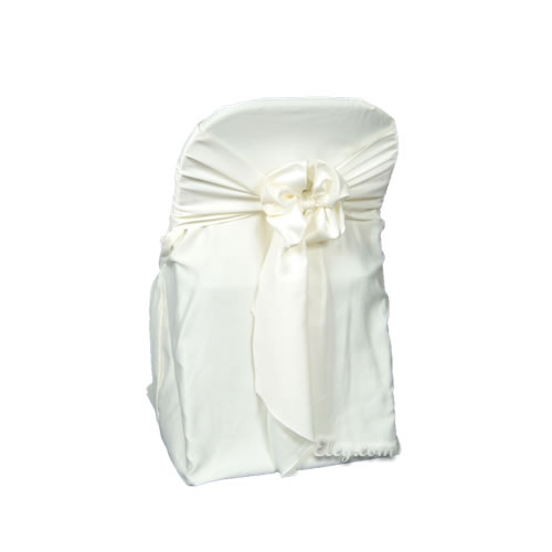 ivory poly polyester folding chair cover