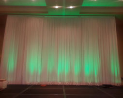 ivory straight wedding backdrop rental
