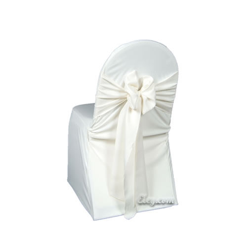 ivory wrinkle free banquet chair cover